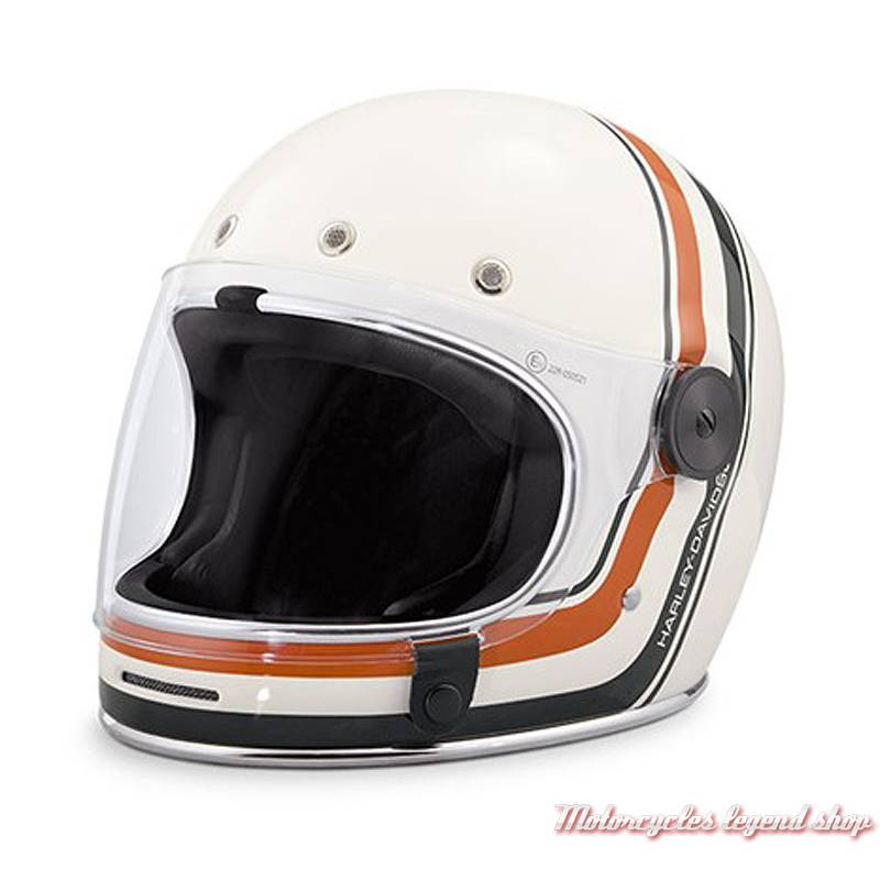 Casque intégral Vintage Stripe Harley-Davidson, crème, orange, noir, 98146-18EX