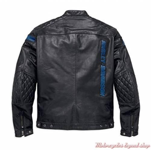 Blouson cuir 115th Anniversary Harley-Davidson homme, noir, homologué CE, 98002-18EM