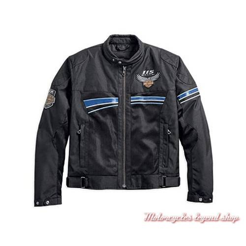Blouson textile 115th Anniversary Harley-Davidson homme