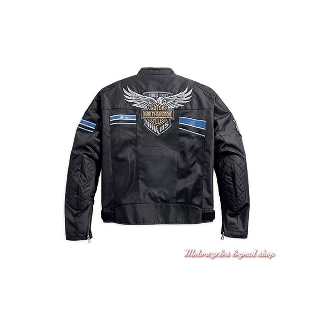 blouson textile 115th anniversary harley davidson homme motorcycles legend shop. Black Bedroom Furniture Sets. Home Design Ideas