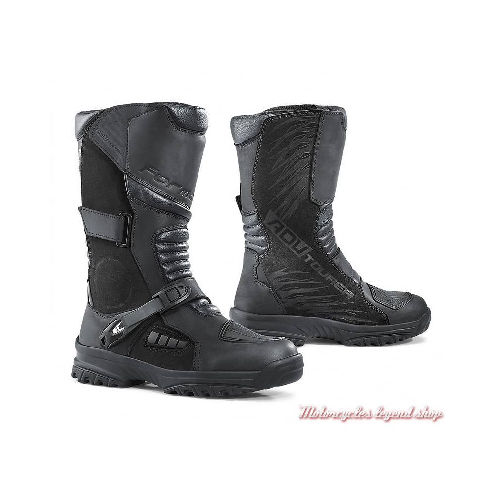 Bottes Tourer Forma homme, technique, waterproof, cuir noir