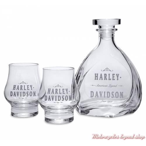 Ensemble verres et carafe Harley-Davidson