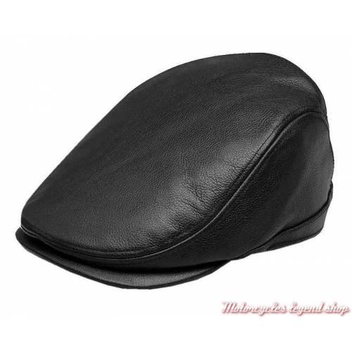 Casquette Ivy cuir noir Skull Willie G.Harley-Davidson homme 97801-18VM