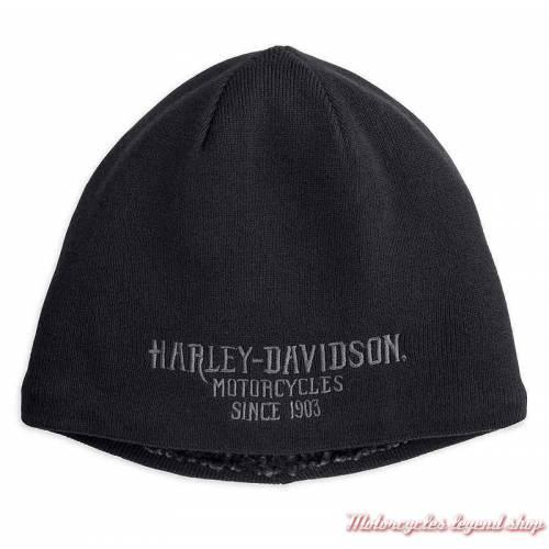 Bonnet polaire imitation mouton Harley-Davidson homme , noir, acrylique, coton, 97796-18vm