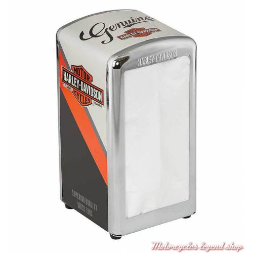 Distributeur de serviettes Nostalgic Bar & Shield Harley-Davidson
