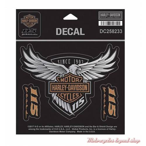 Sticker 115th Anniversary Harley-Davidson DC258233