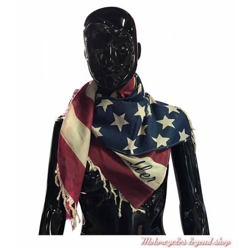 Foulard drapeau US army, style motard coton, 100 x 95 cm
