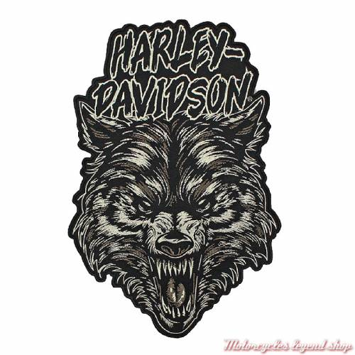 Patch Night Wolf Harley-Davidson, brodé, grand modèle, EM273806