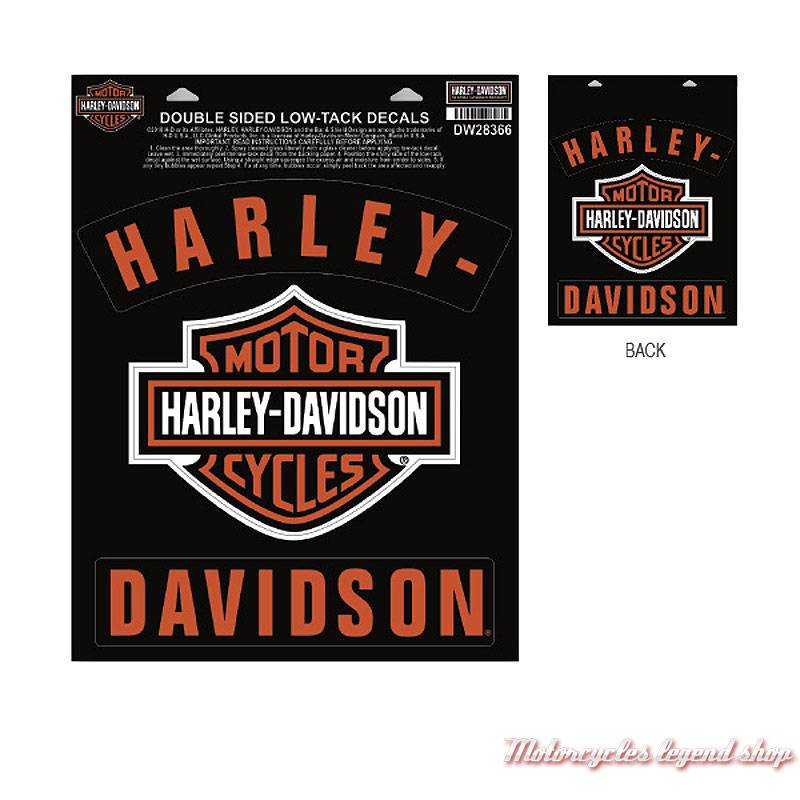Stickers de vitre Bar & Shield Rockers Harley-Davidson, double face, DW28366