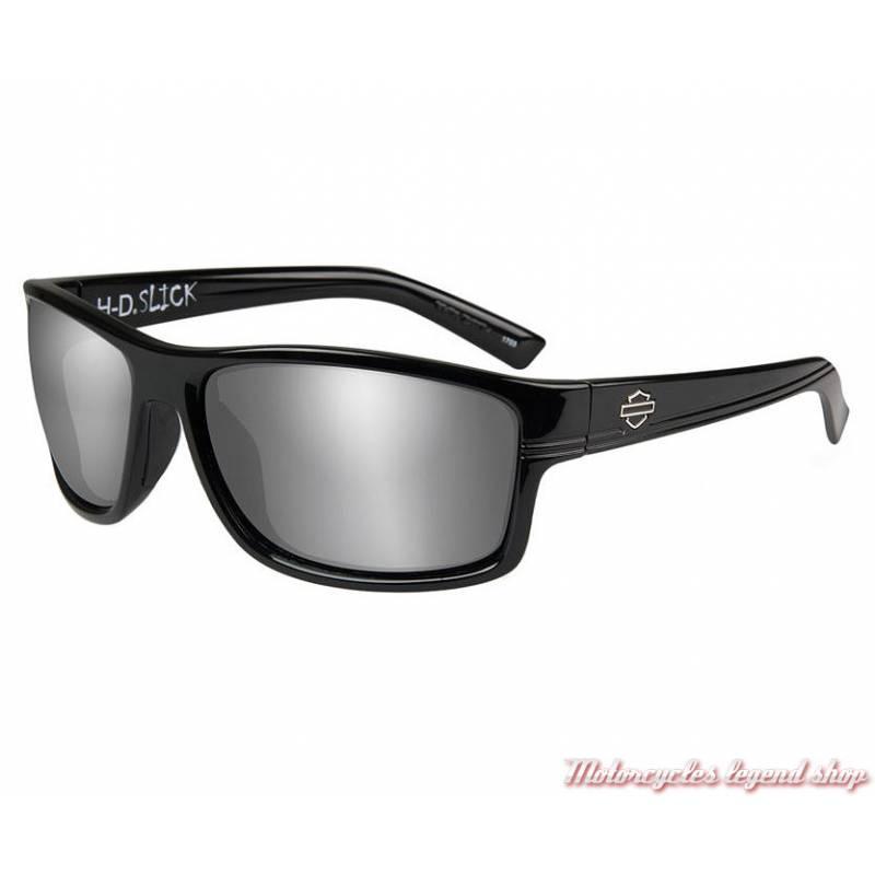 Lunettes solaire Slick Harley-Davidson, noir brillant, verres gris silver, HASLK02