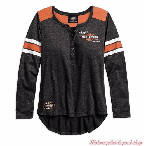Tee-shirt Genuine Oil Can Harley-Davidson femme
