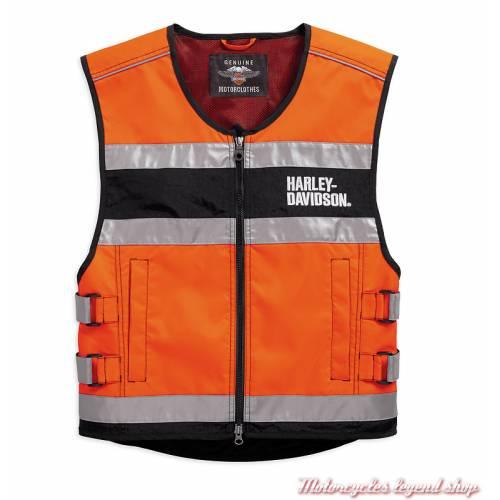 Gilet de sécurité moto orange CE Harley-Davidson