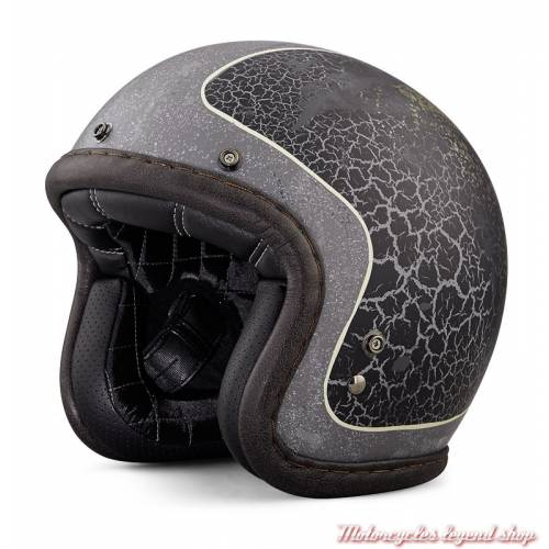 Casque Jet Needles Highway Harley-Davidson, mixte, gris craquelé, 98181-18EX