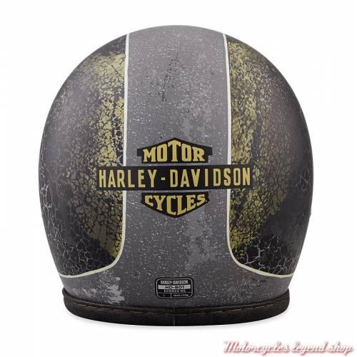 Casque Jet Needles Highway Harley-Davidson, mixte, gris craquelé, dos, 98181-18EX