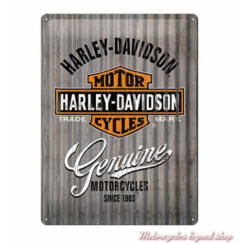 Plaque métal Genuine Harley-Davidson, 30 x 40 cm, rétro, 23250