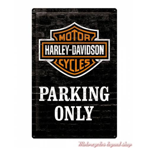 Plaque métal Parking Only Harley-Davidson, 40 x 60 cm, 24010