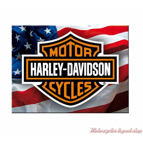 Magnet Bar & Shield USA Harley-Davidson