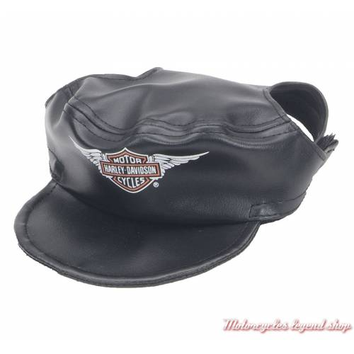 Casquette pour chien Harley-Davidson, vinyl noir, H2500