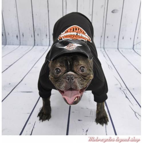 Casquette pour chien Harley-Davidson, vinyl noir, visuel, H2500