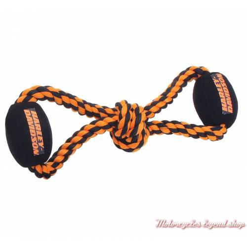 Cordes à mordre Harley-Davidson pour chien, polyester, noir, orange, H8400-H-P10DOG