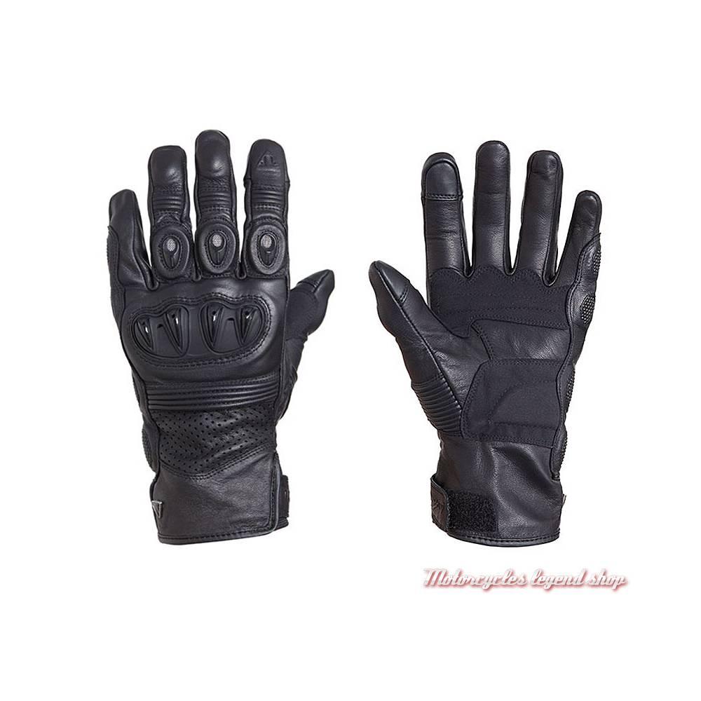 Gants Brookes Triumph homme, cuir noir, MGVS18120