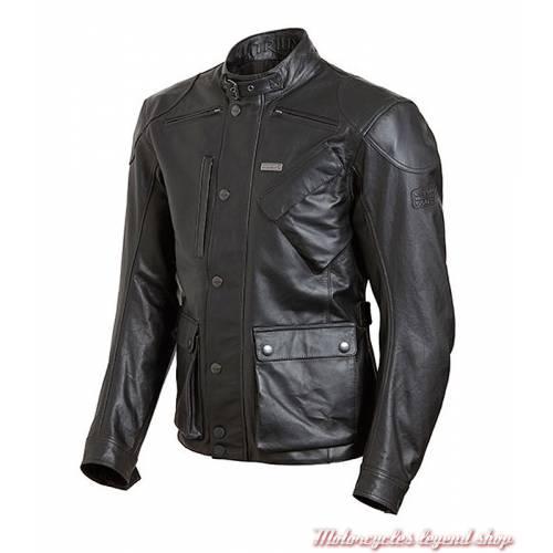 Blouson cuir Beaufort 2 Triumph, homme, noir, MLHS18112-2