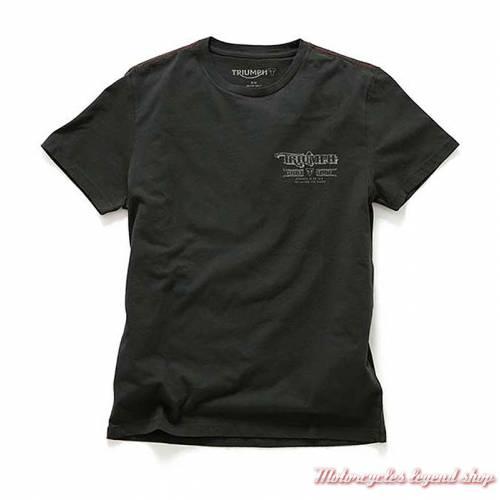 Tee-shirt Vancouver Triumph homme, noir, manches courtes, coton, MTSS18209