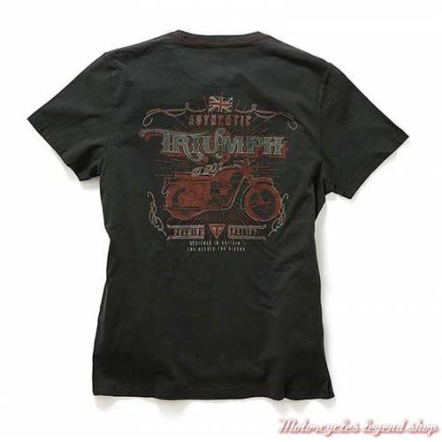 Tee-shirt Vancouver Triumph homme, noir, manches courtes, coton, dos, MTSS18209