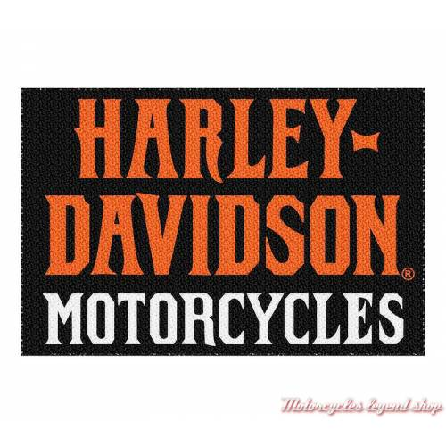 Paillasson Harley-Davidson Motorcycles, nylon, noir, orange, 949195