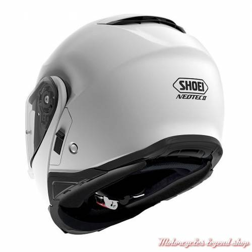 Casque modulable Neotec II blanc Shoei, dos