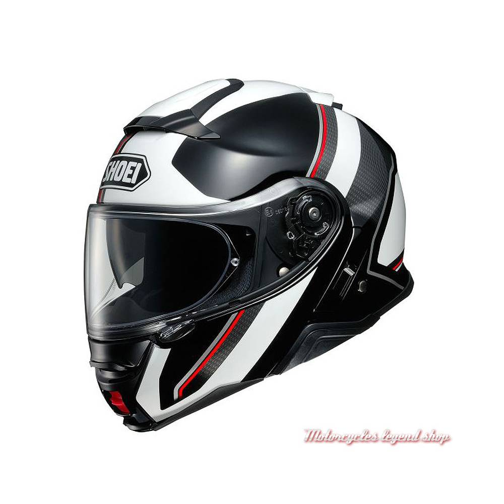 Casque modulable Neotec II Excursion TC6 Shoei, noir, blanc, rouge