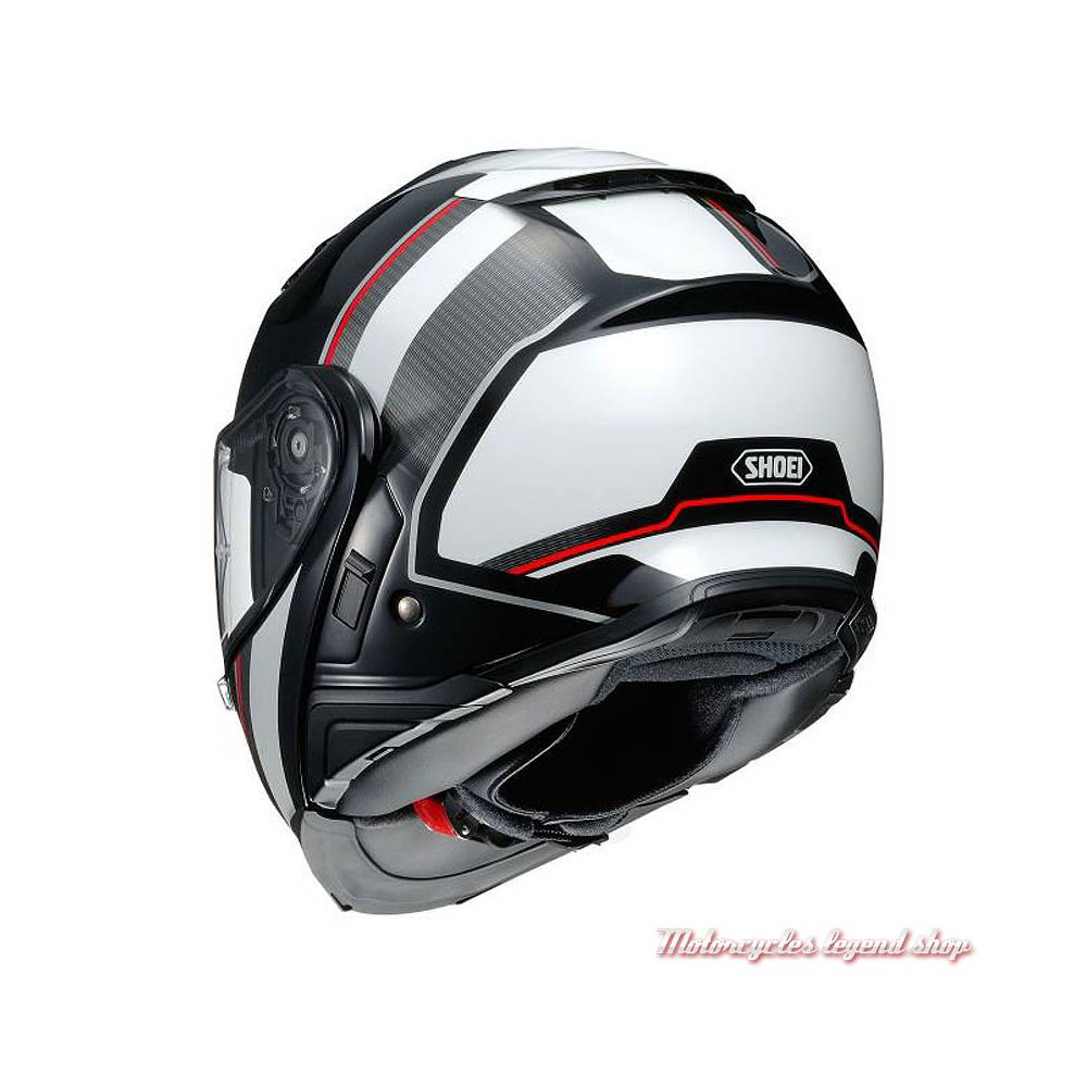 Casque modulable Neotec II Excursion TC6 Shoei, noir, blanc, rouge, dos