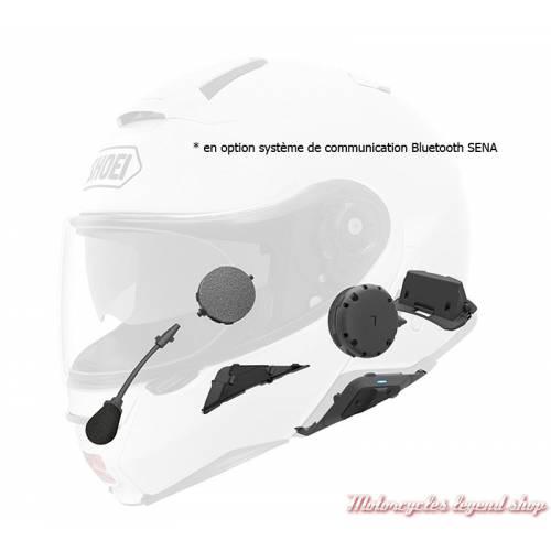 Système de communication Bluetooth SENA pour casque modulable Neotec II noir Mat Shoei