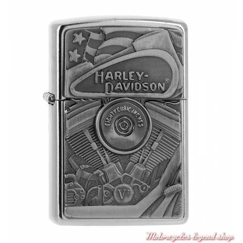 Zippo Motor Flag Harley-Davidson, aigle, relief, chrome, 60002815