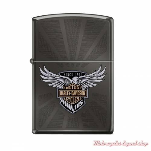 Zippo 115th Anniversary Harley-Davidson metal noir chromé, 60003616