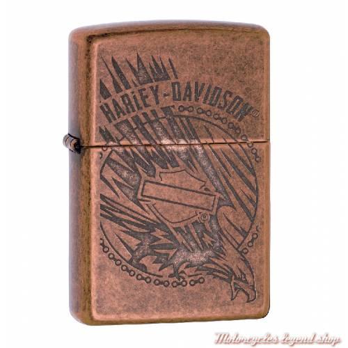 Zippo Antique Copper Harley-Davidson, cuivre antique, gravé, 60003987