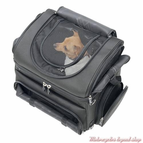 Sac voyager pour animaux de compagnie Saddlemen, 52 litres, noir, pour sissy bar