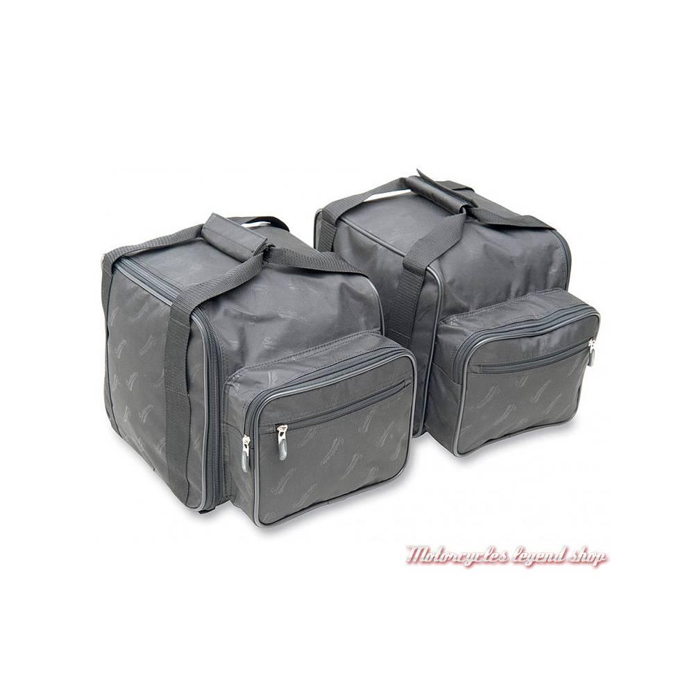 2 Bagages de coffre pour Tri Glide Harley-Davidson Saddlemen, nylon noir, zippés