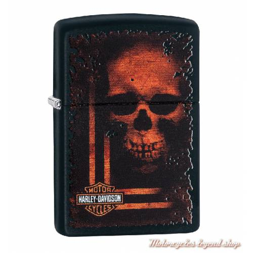 Zippo sinister skull Harley-Davidson, noir mat 60003981
