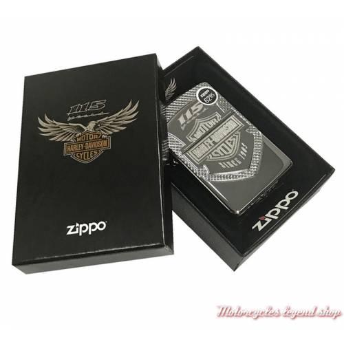 Zippo 115th Anniversary Harley-Davidson, chrome polish, boite,  60003617