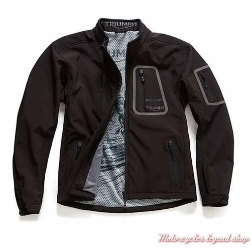 Veste Softshell Triumph, noir, mixte, polyester, doublure blouson, MFNS18135