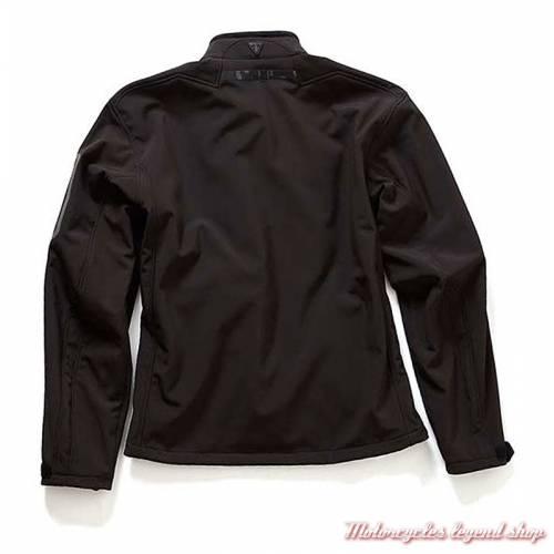 Veste Softshell Triumph, noir, mixte, polyester, doublure blouson, dos, MFNS18135
