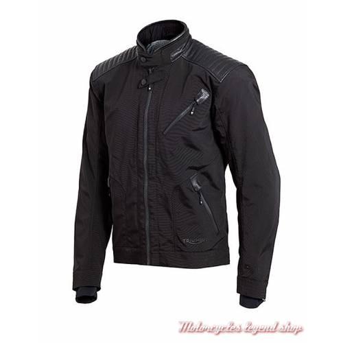 Blouson textile Hoxton Triumph, homme, noir, Gore tex, profil, MTPS18415