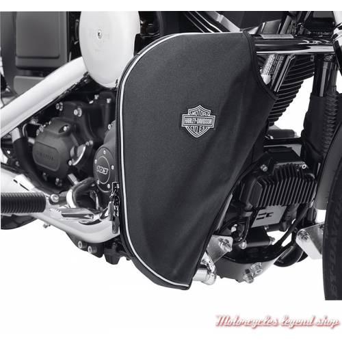 Bas de carénages souples Harley-Davidson de pare-jambes, toile lavable, noir, 57100210