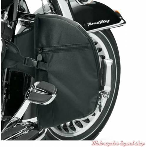 Bas de carénages souples Harley-Davidson de pare-jambes, toile lavable, noir, dos, 57100210