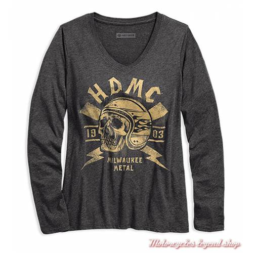 Tee-shirt Milwaukee Metal Harley-Davidson femme
