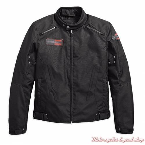 Blouson textile Eckley Harley-Davidson homme, noir, mesh, homologué, 97102-18EM