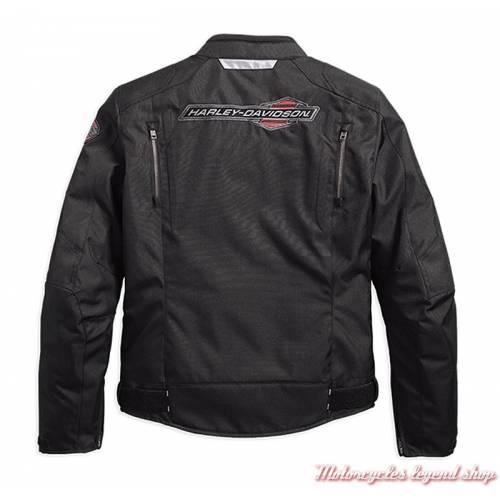 Blouson textile Eckley Harley-Davidson homme, noir, mesh, homologué, dos, 97102-18EM