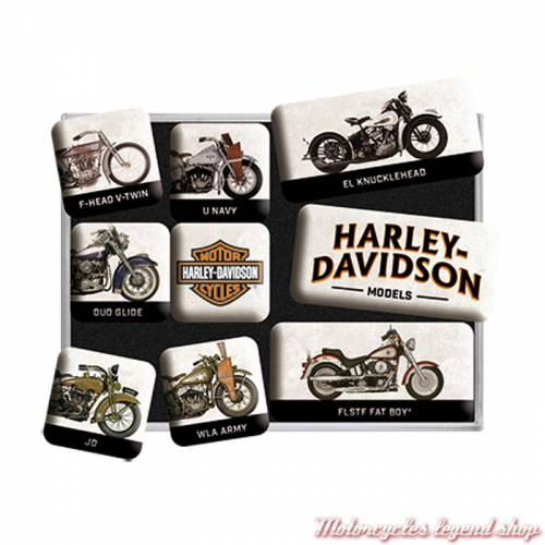 Magnets x 9 Models Harley-Davidson 83102