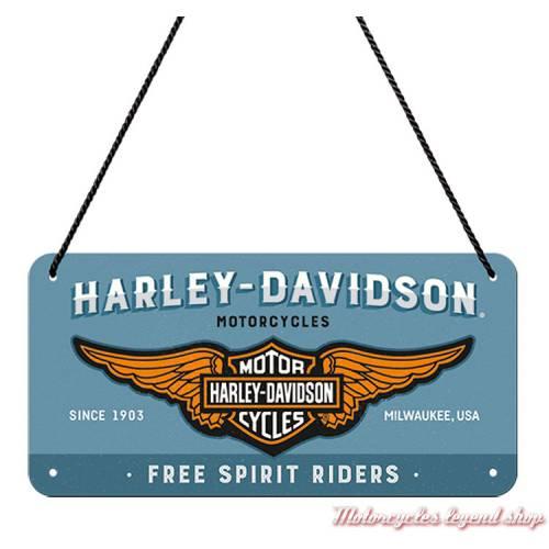 Plaque métal Free Spirit Riders Harley-Davidson